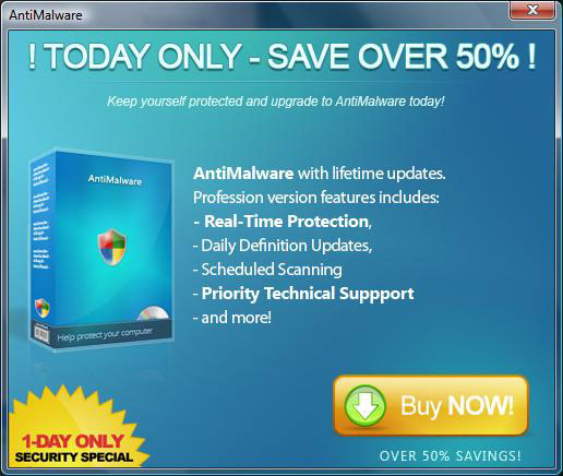 AntiMalware advert